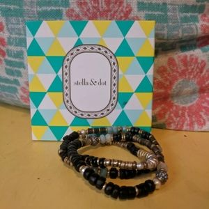 Stella & Dot Artisan Stretch Bracelets Set of 3